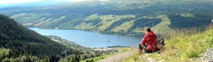 Utsikt från WM6 toppstation - Åresjön