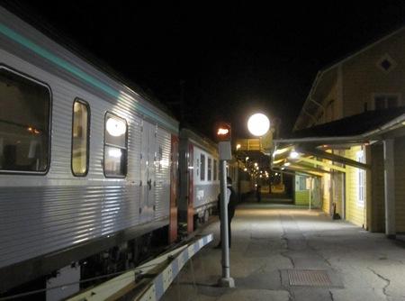 Uppehåll med nattåg i Långsele