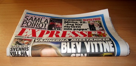 """Expressen hämtad i bistron av """"min"""" professionella ombordare"""