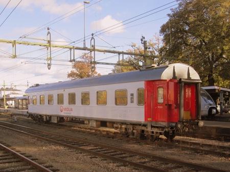 Efterlämnad sovvagn i Norrköping