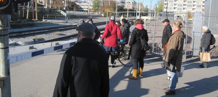 I Uppsala blir det ofta att vänta på att tåg skall komma eller gå