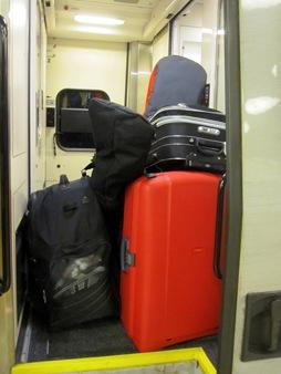 Kanske inte så smart att ställa bagaget här