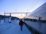 Söderhamns station en kall morgon