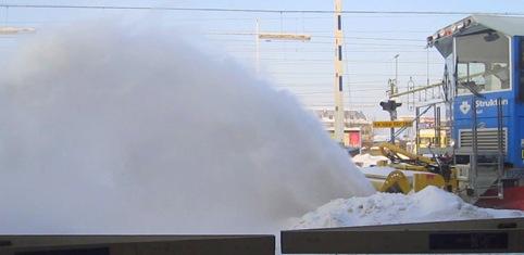 Här yr snöv (även på fotografen)