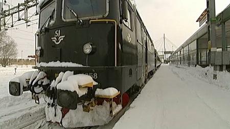 Vintrigt SJ tåg