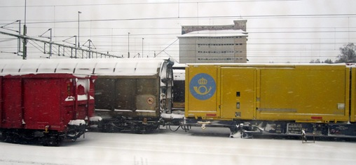 Sveriges största godsbangård står still pga vintern