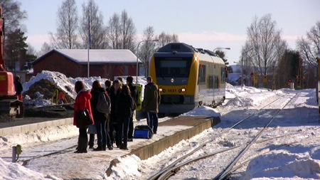Tåget mot Torsby anländer