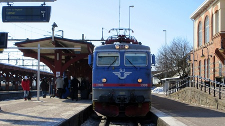 Kust till Kust tåg idag på Alvesta C