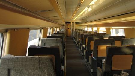 Bara jag på hela tåget