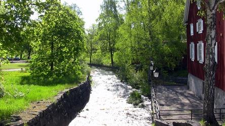 Nästa alpstämning där Söderhamnsån forsar fram vid den gamla kvarnen