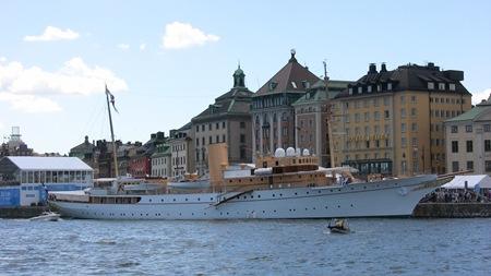 """Danska Drottningens egen fina båt – """"Dannebrogen"""""""