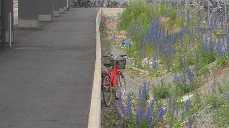 En parkerad cykel