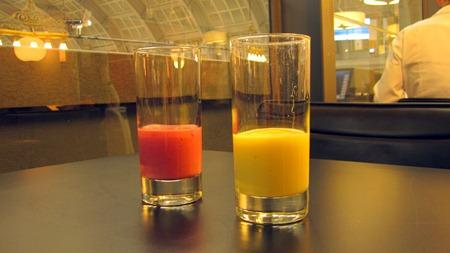 Läskande smoothies i SJ:s lounge i Stockholm