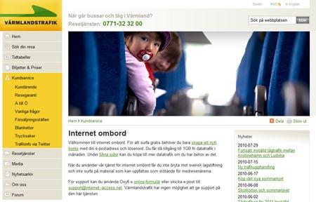 Gratis internet på Värmlandstrafiks tåg