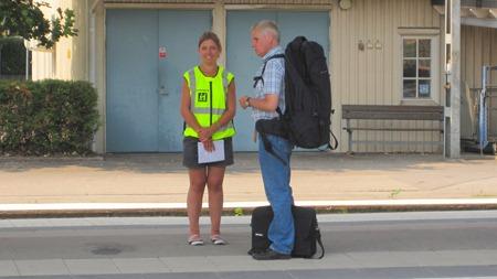 Stationsledsagning - Mannen på bilden har inget med ledsagning att göra