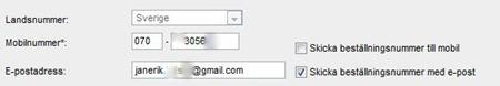 """Försök att """"kryssa bort"""" SMS-aviseringen"""