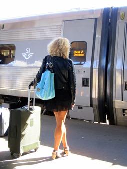 Det här tåget var i alla fall rent och snyggt