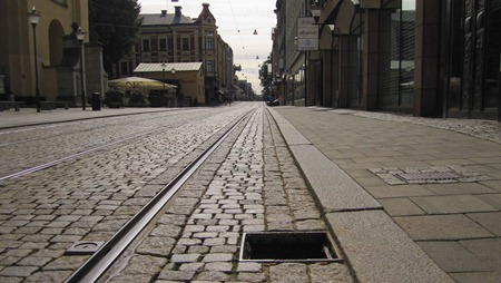 Ooops! - Hål i Drottninggatan i Norrköping