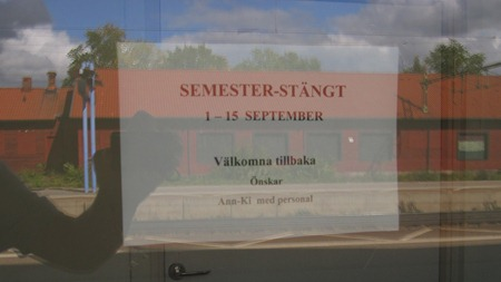 Semesterstängt i september