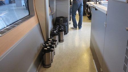 Väl förberedd för kaffetörstiga resenärer