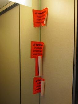 Det händer att toaletterna slutar att fungera på tågen