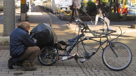 Varför gick det inte? Jo för cykeln var låst!