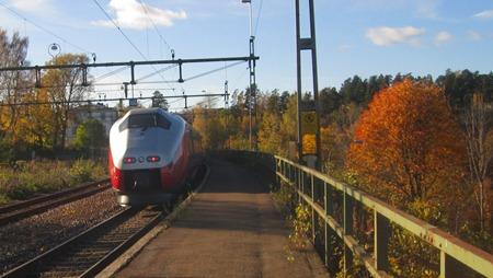 SJ/NSB:s tåg i Ed på väg mot Norge