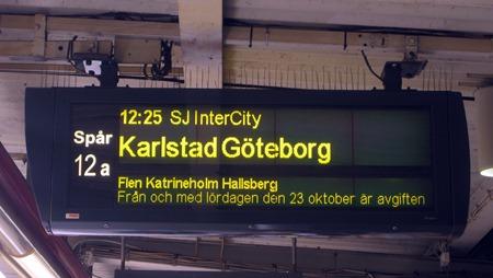 Svårtolkbar skylt på Stockholms Central