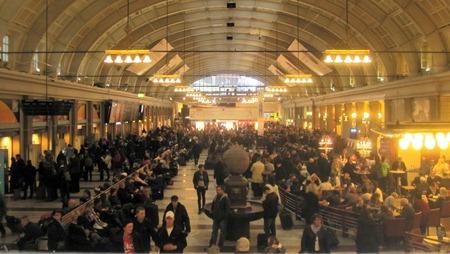 Stockholms Central en fredag eftermiddag