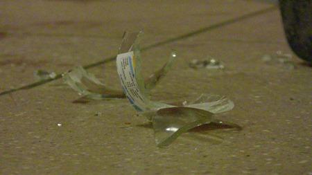 Vasst glas på golvet