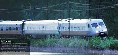 X2000-tåg med trasig korglutning i novembernumret av SJ:s kundtidning Kupé: Källa SJ