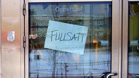 Stängt och Fullsatt !