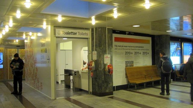 Ny tillfällig plats för toaletter på Stockholm C | Årskort Guld SJ