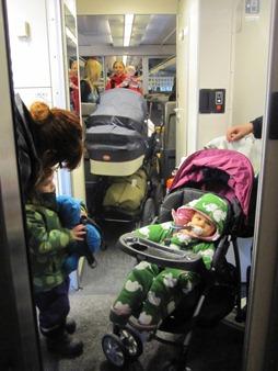 Mycket vagnar på tåg