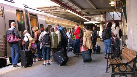 STOCKBILDER Mycket resenärer
