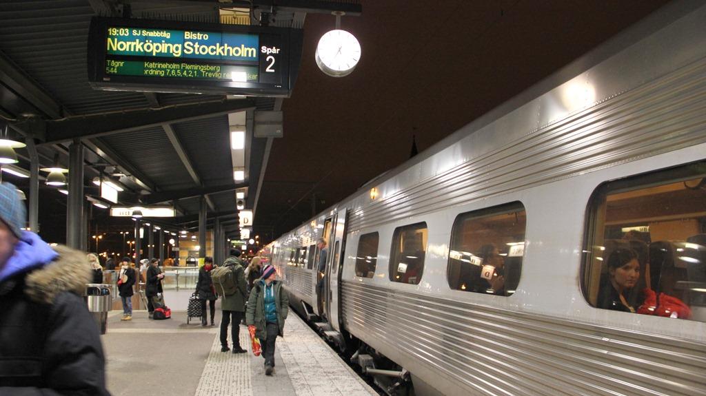 ankommande tåg från stockholm till malmö