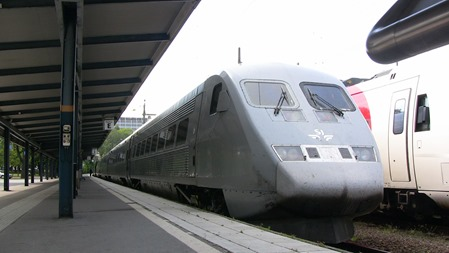 Tåget hade fått problem med hjälpkraften så AC:n hade lagt