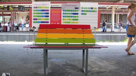 Ännu en märklig bänk - Xylofonbänk