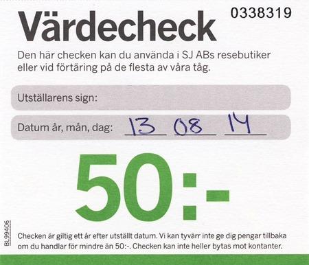 Värdecheck 50:-