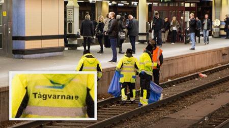 2013-10-04 Tågbilder ( Stockholm C - Städning av spår )