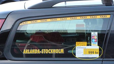 Dyr taxi för barnfamiljen