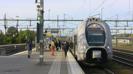 SJ Regionaltåg X40/Dubbeldäckare i HAllsberg ( Arkivbild )