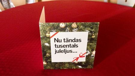 Igår kom det en liten julgåva från SJ