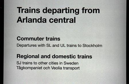 UL trains to Stockholm undras OCH ordet OCH översattes inte till engelska