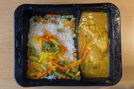 Asiatisk citronkyckling med ris ( utan tillsals av ketchup )