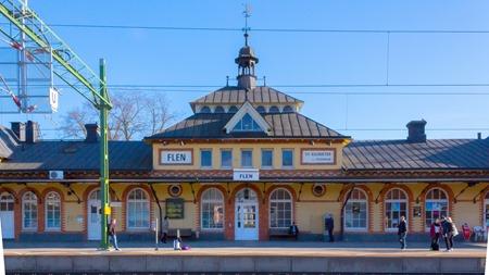 Flens nyrenoverade station