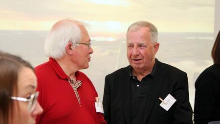 I glatt samspråk med Tågabs VD och ägare Lars Yngström ( Fotograf: Ingvar Fogelberg