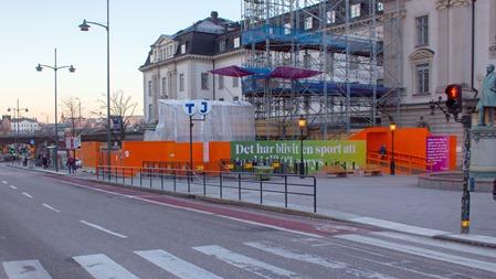 Ny fiffig lösning stoppar friåkare att spärra cykelbana utan för Stockholm C