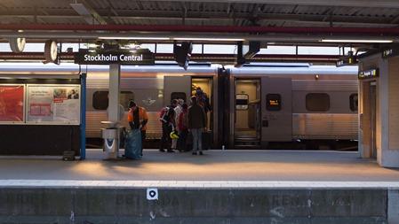 Avresan gjordes som vanligt med SJ 2000