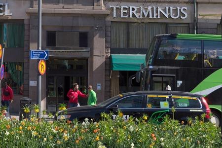 Även på Vasagatan var det det rena blomsterdjungeln då kommunen har planterat rejäla perenner i mittremsan.